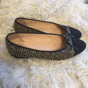 Chanel tweed flats 39.5 gently used